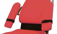 Armrests with wrist straps